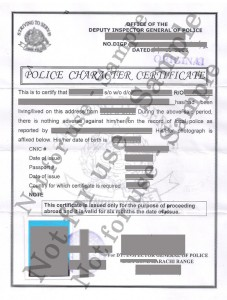 how to get indian police clearance certificate in canada